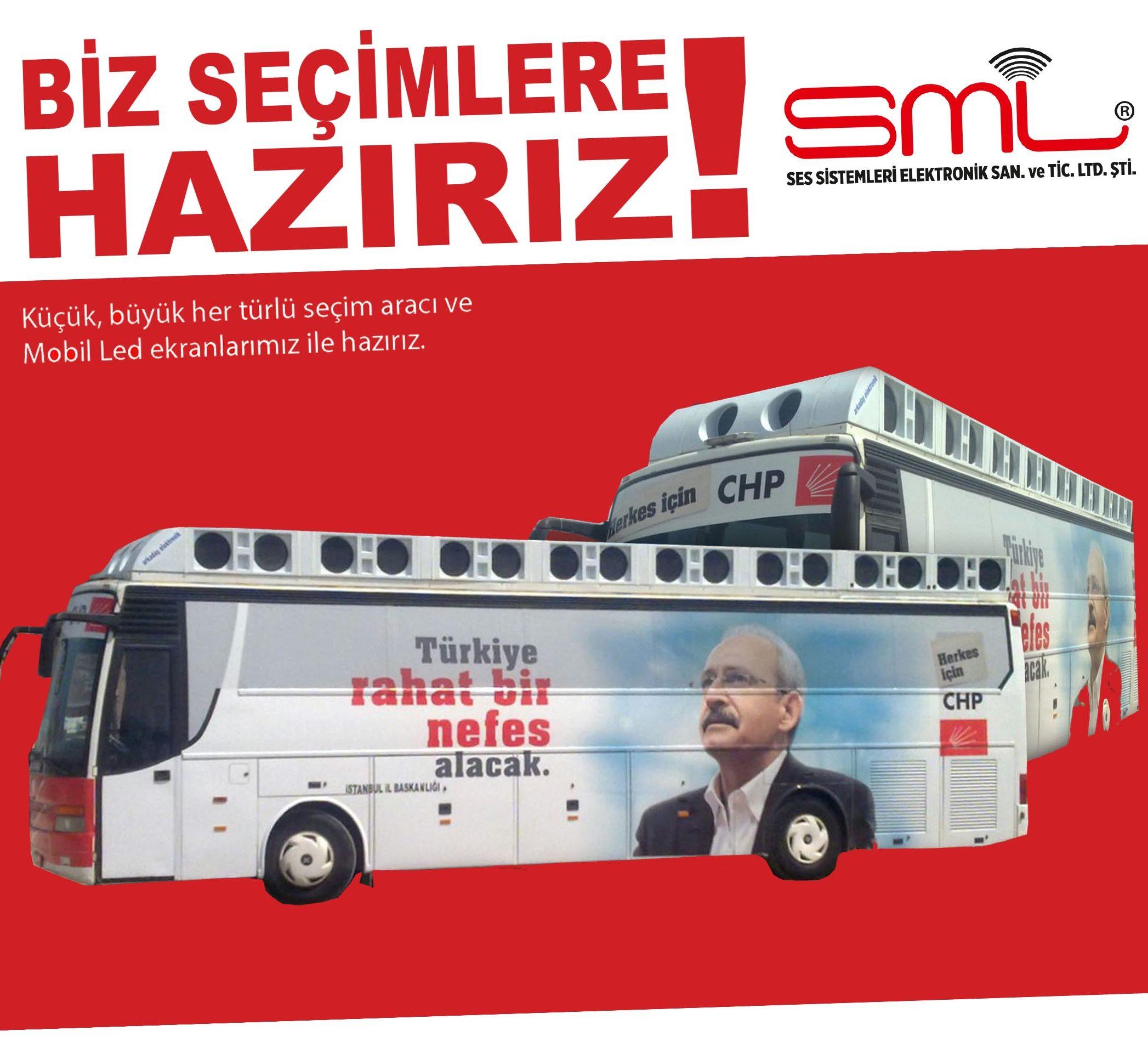 seçim çalışmaları için seçim otobüsleri